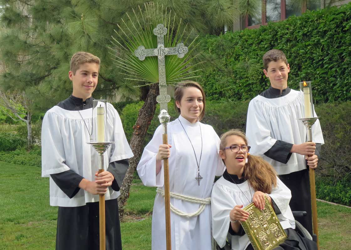 Acolytes Palm Sunday